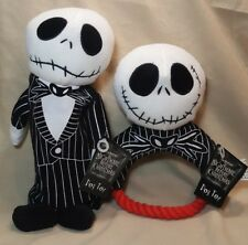 2 Nightmare Before Christmas Jack Dog Toys ~ Squeaky Pull & Crinkle Bottle Toys