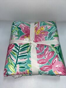 Pottery Barn Lilly Pulitzer Jungle Lilly Percale Duvet Cover King Multi #9007