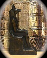 5 1/2 INCH TALL RESIN STATUE FIGURE ANUBIS ~ JACKAL GOD ANCIENT EGYPT PAGANISM