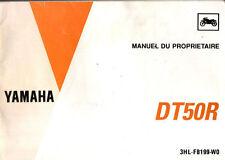 Manuel du proprietaire YAMAHA DT50R DT 50 R