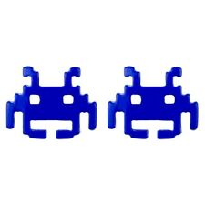 Joe Cool Branded Retro Gamers Space Invaders Alien Stud Earrings - Royal Blue