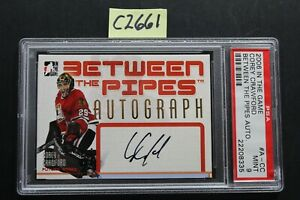 2006-07 In The Game - COREY CRAWFORD - Between The Pipes Auto - PSA 9 (C2661
