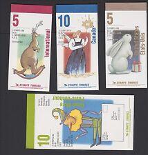 Canada 1993 Christmas  MNH Booklet Set of 4 Santa Claus