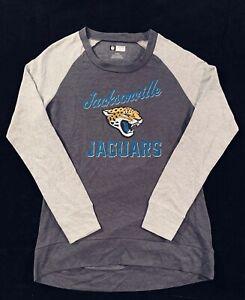 Brand New NFL Jacksonville Jaguars Women's Gray Long Sleeve Shirt Size M