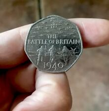 VERY Rare Commemorative Battle of Britain 1940 50p 2015 Coin