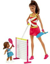 Barbie Tennis Coach Playset with Student Doll