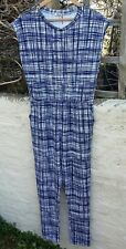 Womens Navy Blue and White Jumpsuit size 16