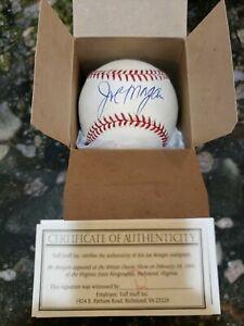 Joe Morgan single signed NL baseball with COA