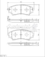 Satz Bremsklötze Bremsbeläge vorne Ford Ranger + Mazda BT-50