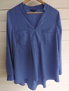 Portmans Size 10 - Women's Purple Long Sleeve Blouse Top