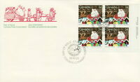 CANADA #1067 34¢ SANTA CLAUS PARADE LR PLATE BLOCK FIRST DAY COVER
