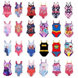 Girls/Kids/Toddlers Swimsuit Swimming Costume Childrens Swimwear Age 2-10 Years