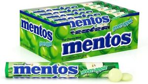 Mentos Green Apple (Pack of 15) Chewy Mints - American Candy & Sweets