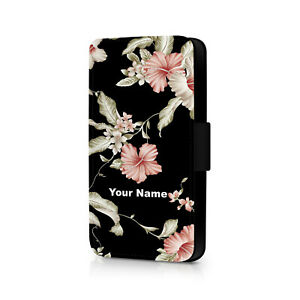 Personalised Floral Phone Flip Case For iPhone - Huawei