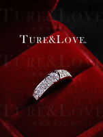 Brand New Genuine 18K White Gold 1.25 ct Engagement Eternity Ring size 8