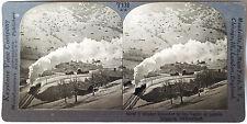 Keystone Stereoview Train at Lauterbrunnen, SWITZERLAND from the 1930's T400 Set