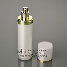 120ML WHITE COSMETIC ACRYLIC CONE PRESS PUMP LOTION BOTTLE WITH GOLD-NEW100PCS
