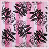BonEful Fabric FQ Cotton Quilt Pink L FLOWER Chocolate Brown Stripe Calico Toile