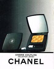 PUBLICITE ADVERTISING 044  1988  CHANEL cosmétiques OMBRE COUTURE