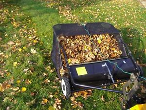 """TOW BEHIND 1.0m/38"""" LEAF COLLECTOR LAWN SWEEPER LEAF COLLECTING SWEEPER   ATV"""