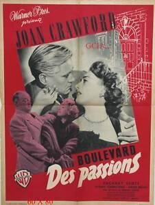 BOULEVARD DES PASSIONS - J.CRAWFORD -M.CURTIZ-1949- W.B- on linen