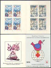 France 1974 Red Cross/Medical/Health/Welfare/Cat/Bird/Seasons 8v bklt (b4479n)