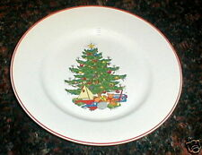 CUTHBERTSON AMERICAN CHRISTMAS TREE RED  SALAD  PLATE