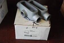 """Appleton T75-M, 3/4"""" Tee, Mall Iron, Form 35, Lot of 2 New in Box"""