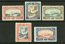 British Guiana  1898  Scott #  152-156  Mint Hinged Set