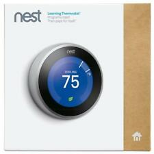 Brand New Sealed Nest Learning Thermostat 3rd Generation, Stainless Steel