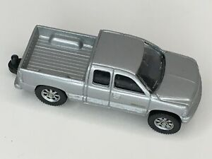 Maisto Chevy Silverado 1500 Silver Pickup Truck with Tow Hitch Loose Diecast Toy