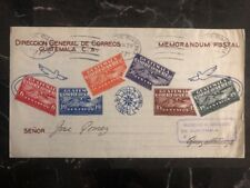 1930 Guatemala First Flight Cover FFC Quezaltenango Stamp On Stamp Airletter