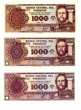 Paraguay ... P-214a,b,c ... 1000 Guaranies ... 1998-2001-2003 ... *UNC*