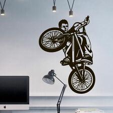Wall Decal BMX Rider Sticker Bike Bicycle X Games Racing Cycle Jump Teen M1650