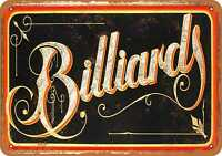 Metal Sign - Billiards - Vintage Look Reproduction