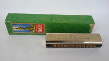 VINTAGE RARE GERMAN MOUTH ORGAN HARMONICA Marca la Libertad Registr. /w CASE