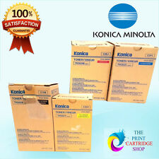 New & Genuine Konica Minolta TN-302 Full Toner Set of 4 CMYK 8031 9331