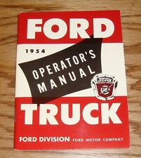 1954 Ford Truck Owners Operators Manual 54