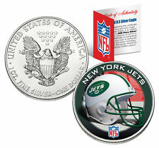 NEW YORK JETS 1 Oz American Silver Eagle $1 US Coin Colorized NFL LICENSED
