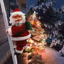 Christmas Santa Claus Figure Climbing on Ladder Singing Electric Kids Toys UK