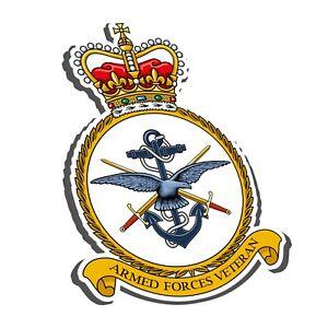 ARMED FORCES VETERAN STICKER - NAVY, ARMY, RAF - BRITISH LEGION UK BADGE