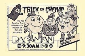 PAC MAN Trick Or Chomp Halloween Special 4x6 Print From 1982 ABC Television Ad