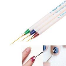 3PCS Nail Art Design Set Dotting Painting Drawing Brush Pen Tools Blue+Red+Green