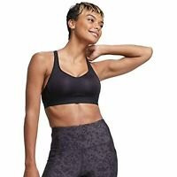 All in Motion Women's High Support Convertible Strap Bra (Black, 38DD)