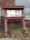 R 3  antique oak fireplace mantle no columns 64.5 wide 87.25 hi 12 Inch DPainted