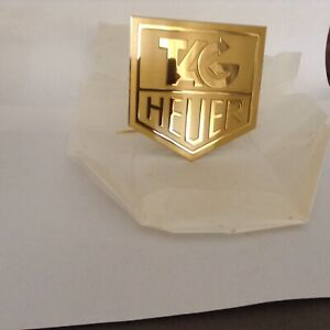 TAG HEUER RARE EXCLUSIVE BRASS LOGO PLAQUE VINTAGE 1990'S 5X5 +/- SWISS MADE
