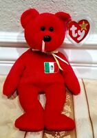"""*RARE* Ty Beanie Baby - """"Osito"""" Mexico Bear - MWMT w/Solid Locket Tag Protector"""