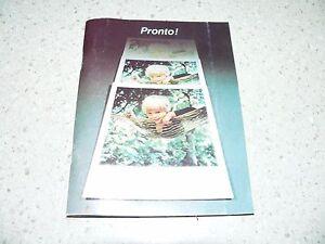 Original Vintage Polaroid Pronto! Land Camera Instructions~VG/EX Condition