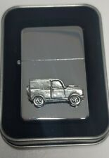 More details for 4x4 off road vehicle  petrol/oil windproof fliptop chrome/pewter lighter g