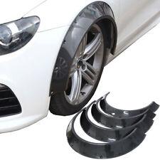 3.2''+2.4'' Carbon Fiber Look ABS New School JDM Fender Flares Wheel Arches 4Pcs